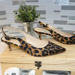 NEW Marc Fisher animal print pointed heels